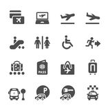 Airport and travel icon set, vector eps10 Royalty Free Stock Images