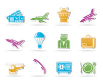 Airport and travel icons Stock Photography