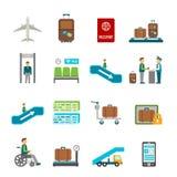 Airport travel icons Stock Photos