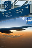 Airport Travel Montage Royalty Free Stock Photography