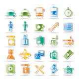 Airport, travel and transportation icons royalty free illustration