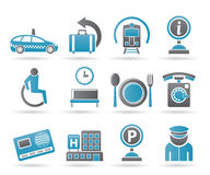 Airport, travel and transportation icons 2 Stock Photography