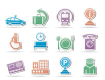 Airport, travel and transportation icons 2 stock illustration