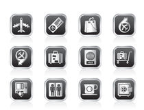 Airport, travel and transportation icons 1 Stock Photo