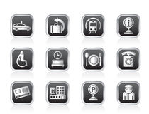 Airport, travel and transportation icons 2 Royalty Free Stock Photos