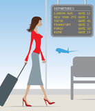 Airport travel woman Royalty Free Stock Photography