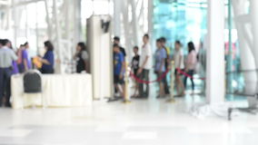 Airport travelers at security screening. HD Format : Airport travelers at security screening stock footage