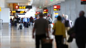 Airport Travelers Sequence People stock footage