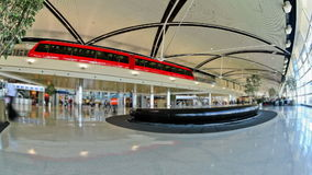 Airport Travelers Time Lapse Detroit stock footage