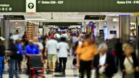 Airport Travelers Time Lapse People stock footage