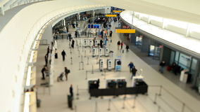 Airport Travelers Time Lapse Tilt Shift stock video footage