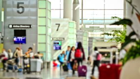 Airport Travelers Time Lapse. V4. Airport travelers time lapse using a photo effect stock video