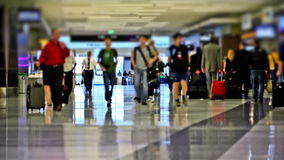 Airport Travelers Time Lapse stock footage