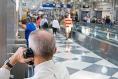 Airport Traveller Royalty Free Stock Images