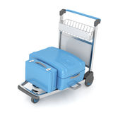 Airport trolley Royalty Free Stock Image