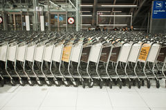 Airport trolleys Royalty Free Stock Photos