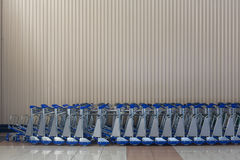 Airport trolleys Royalty Free Stock Images