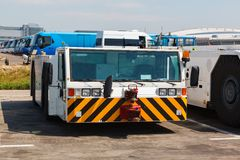 Airport tug tractor Royalty Free Stock Photos
