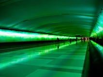 Airport Tunnel. Detroit Metro International Airport,  Light Tunnel Royalty Free Stock Photo
