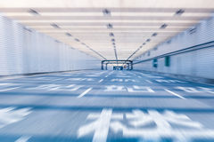 Airport tunnel highway Royalty Free Stock Images