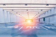 Airport tunnel highway Stock Photos