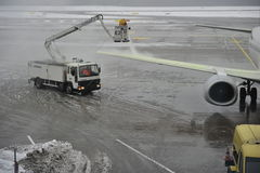 Airport under Snow Royalty Free Stock Photos