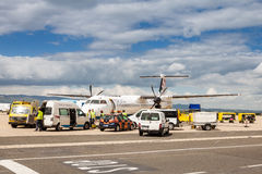 Airport utility vehicles on Zagreb airport Royalty Free Stock Photography