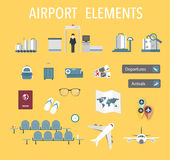 Airport vector Royalty Free Stock Photos