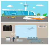 Airport vector Royalty Free Stock Image