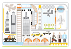Airport - vector illustartion Royalty Free Stock Photos