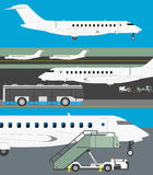 Airport vector set Royalty Free Stock Photography