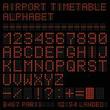 Airport vector timetable red alphabet. Vector illustration. Airport vector timetable red alphabet. - Vector Illustration royalty free illustration
