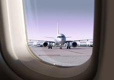 Airport that view through a window royalty free stock photos