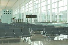 Airport waiting. Lounge nobody empty Stock Image