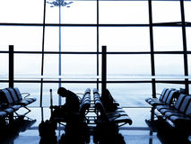 Airport waiting Stock Images