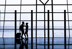 Airport waiting Royalty Free Stock Image