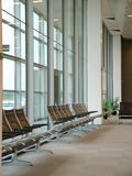 Airport - Waiting Area. View of a detail of airport waiting area royalty free stock images