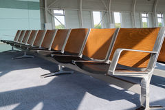 Airport waiting area. Waiting area with empty seats at the airport in city Lviv royalty free stock photos