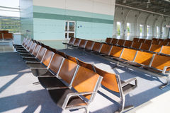 Airport waiting area. Waiting area with empty seats at the airport in city Lviv royalty free stock photography