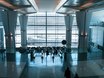 Airport waiting area at the gates Royalty Free Stock Image