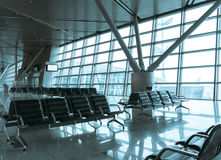 Airport waiting area hall Stock Photography