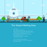The Airport Waiting Area with People Royalty Free Stock Images