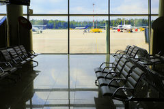 Airport waiting area. Terminal Royalty Free Stock Photography
