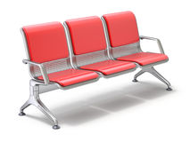 Airport waiting chairs Royalty Free Stock Images