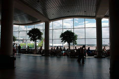 Airport waiting hall. Domodedovo airport (Russia, Moscow) waiting hall Royalty Free Stock Photography