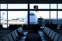 Airport, waiting room. Royalty Free Stock Photo