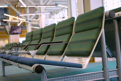 Airport Waiting Room. Perspective row of chairs in an airport waiting room Stock Photos