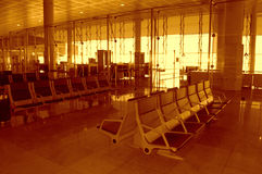 Airport waiting room Stock Photo