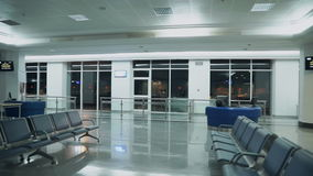 Airport Waiting Room with Empty Seats.