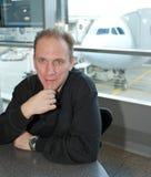 Airport.Waiting room. Man Stock Photo